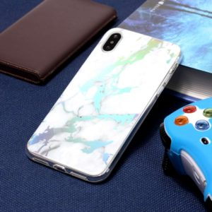 Color Plated Marble TPU Case for iPhone XS Max