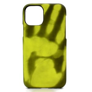 Paste Skin + PC Thermal Sensor Discoloration Protective Back Cover Case For iPhone 11 Pro Max(Black turns green)
