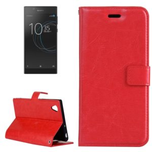 For Sony Xperia L1 Crazy Horse Texture Horizontal Flip Leather Case with Holder & Card Slots & Wallet & Photo Frame(Red)