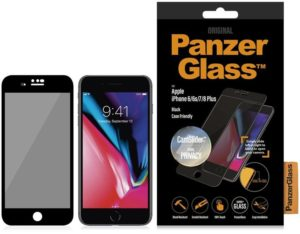 PanzerGlass Γυαλί προστασίας Fullcover Privacy CamSlider Edge-to-Edge Case Friendly 0.3MM για Apple iPhone 6/6s/7/8 Plus - ΜΑΥΡΟ
