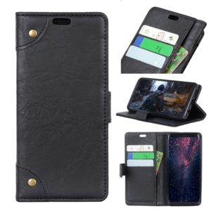 Copper Buckle Retro Crazy Horse Texture Horizontal Flip Leather Case for Motorola Moto G7 Power, with Holder & Card Slots & Wallet (Black)