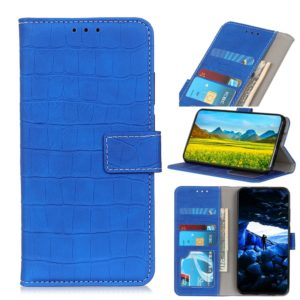 Crocodile Texture Horizontal Flip Leather Case for LG K40, with Holder & Wallet & Card Slots & Photo Frame (Blue)