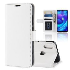 R64 Texture Single Fold Horizontal Flip Leather Case for Xiaomi Mi Play, with Holder & Wallet & Card Slots & Photo Frame (White)