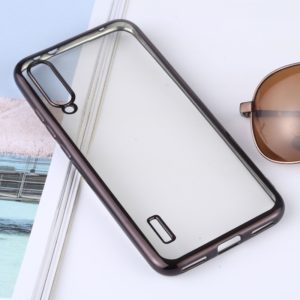Ultra-thin Electroplating Soft TPU Protective Back Cover Case for Xiaomi Mi CC9e / Xiaomi A3(Black)
