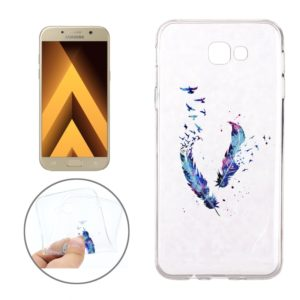 For Galaxy A7 (2017) / A720 Feather Pattern Soft TPU Protective Back Cover Case