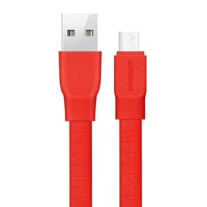 JOYROOM L127 2.4A 1.2m Flat USB to Micro USB Data Sync Charging Cable, For Samsung / Huawei / Xiaomi / Meizu / LG / HTC and Other Smartphones (Red) (JOYROOM)