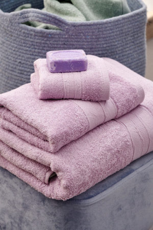 Πετσέτες Σετ Towels Cactus Lilac Cotton Palamaiki 3Τεμ
