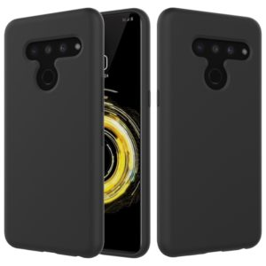 Solid Color Liquid Silicone Dropproof Protective Case for LG V50 ThinQ (Black)