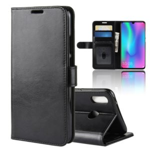 R64 Texture Single Fold Horizontal Flip Leather Case for Huawei Honor 10 Lite, with Holder & Card Slots & Wallet (Black)
