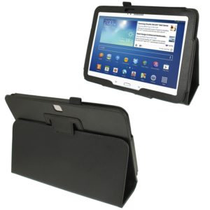 Litchi Texture Leather Case with Holder for Galaxy Tab 3 (10.1) / GT-P5200(Black)