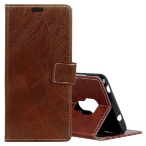 Retro Crazy Horse Texture Horizontal Flip Leather Case for Huawei Mate 20, with Holder & Card Slots & Wallet & Photo Frame (Brown)
