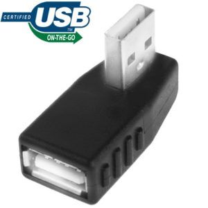 USB 2.0 AM to AF Adapter with 90 Degree Angle, Support OTG Function