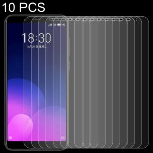 10 PCS 0.26mm 9H Surface Hardness 2.5D Full Screen Tempered Glass Film for Meizu M6T