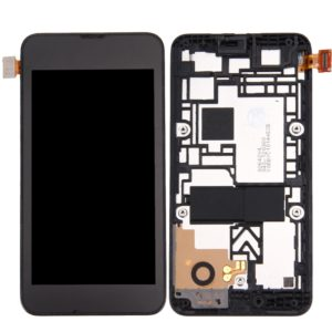LCD Display + Touch Panel with Frame for Nokia Lumia 530 (Black)
