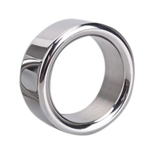 Male Delay Ejaculation Thick Stainless Steel Penis Ring, Inner Diameter: 30mm (FunAdd)