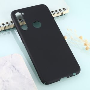 For Xiaomi Redmi Note 8 Solid Color Plastic Protective Case(Black)