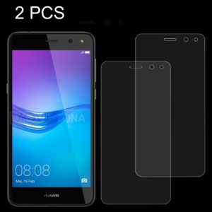 2 PCS Huawei Y6 (2017) 0.26mm 9H Surface Hardness 2.5D Explosion-proof Tempered Glass Non-full Screen Film