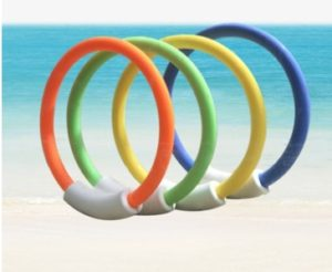 Beach Toy Non-toxic Kids Underwater Toy Grab Dive Seaweed Grass Swimming Pool Water Diving Toy(Diving Ring)