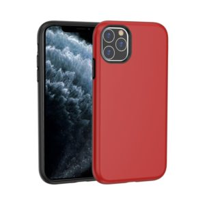 For iPhone 11 Pro Max Shockproof Terminator Style Solid Color Protective Case(Red)