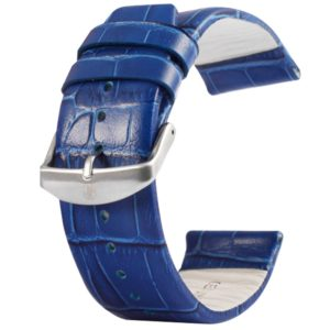 Kakapi for Apple Watch 42mm Crocodile Texture Brushed Buckle Genuine Leather Watchband, Only Used in Conjunction with Connectors (S-AW-3293)(Blue) (Kakapi)