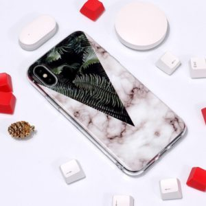 Marble Pattern TPU Soft Protective Case For iPhone XS Max (Leaves)