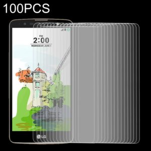 100 PCS 9H 2.5D Tempered Glass Film for LG Stylus 2 Plus