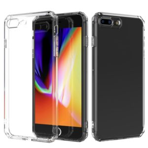 Shockproof Octagonal Airbag Sound Conversion Hole Design TPU Case for iPhone 8 Plus & 7 Plus (Transparent)