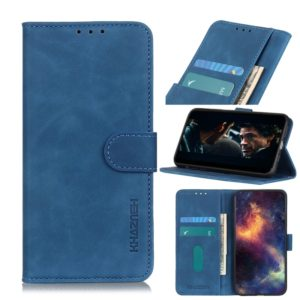 For Sony Xperia 5 Retro Texture PU + TPU Horizontal Flip Leather Case with Holder & Card Slots & Wallet(Blue)
