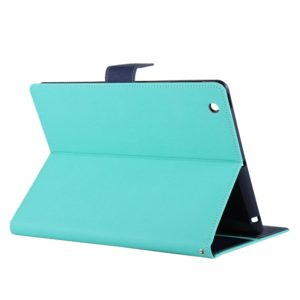 GOOSPERY FANCY DIARY for iPad 4 / 3 / 2 Cross Texture Leather Case with Holder & Card slots & Wallet (Mint Green) (GOOSPERY)