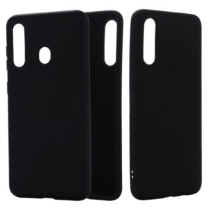 For Galaxy A70s Solid Color Liquid Silicone Dropproof Full Coverage Protective Case(Black)
