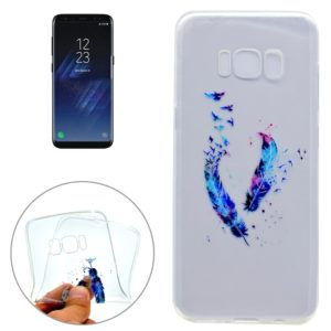 For Galaxy S8 + / G955 Feather Pattern IMD Workmanship Soft TPU Protective Case