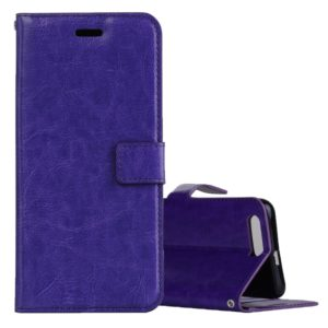 For Huawei Honor 9 Crazy Horse Texture Horizontal Flip Leather Case with Holder & Card Slots & Wallet & Photo Frame (Purple)