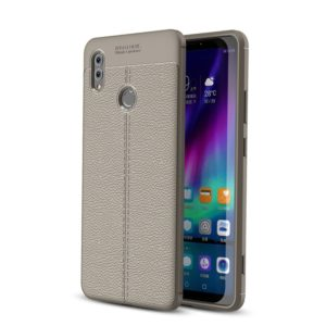 Litchi Texture TPU Shockproof Case for Huawei Honor Note 10(Grey)