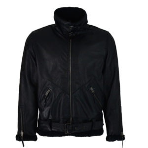 ALMA LIBRE Leather Jacket Black Cow Plounge Ανδρικό - Μάυρο (ALMGLM-064-319)