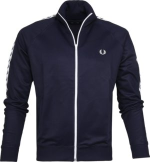 FRED PERRY ΖΑΚΕΤΑ ΑΝΔΡΙΚΗ - Taped Track Jacket (J6231-885) -BLUE