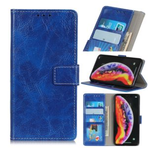 For LG G8 ThinQ Retro Crazy Horse Texture Horizontal Flip Leather Case with Holder & Card Slots & Wallet & Photo & Environmental PU(Blue)