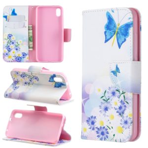 Colored Drawing Pattern Horizontal Flip Leather Case with Holder & Card Slots & Wallet For Xiaomi Redmi 7A(Butterfly Love)