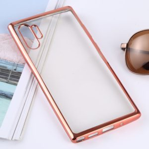 Ultra-thin Electroplating Soft TPU Protective Back Cover Case for Galaxy Note 10 Pro(Rose Gold)