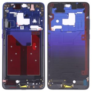 Front Housing LCD Frame Bezel Plate with Side Keys for Huawei Mate 20(Twilight Blue)