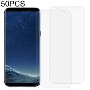 50 PCS 3D Curved Full Cover Soft PET Film Screen Protector for Galaxy S8+