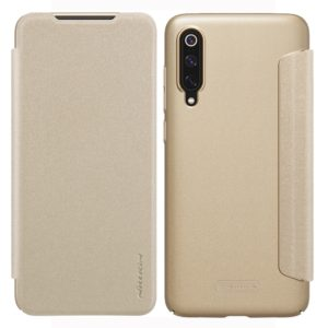 NILLKIN Frosted Texture Horizontal Flip Leather Case for Xiaomi Mi 9 (Gold) (NILLKIN)