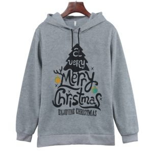 Hooded Long Sleeve Casual Loose Sweatshirt (Color:Grey Size:XXL)