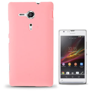 Pure Color Plastic Case for Sony Xperia SP / M35h (Pink)