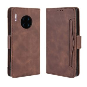 Wallet Style Skin Feel Calf Pattern Leather Case For Huawei Mate 30 Pro,with Separate Card Slot(Brown)