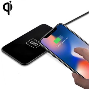 LC-X5 Output 5V 1A Qi Standard Wireless Charger, Used in Support QI Standard Phones, For iPhone, Galaxy, Huawei, Xiaomi, LG, HTC and Other Smart Phones(Black)