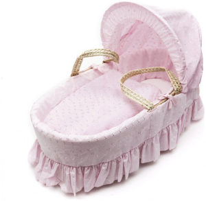 Kinder Valley Broderie Anglaise Ψάθινη Vintage Καλαθούνα - Pink (5060288411900)
