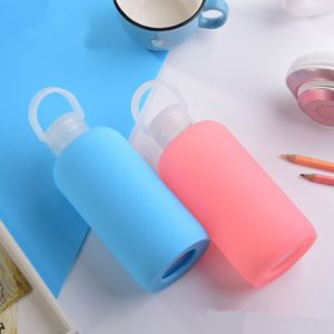 Glass Water Bottle Glass Women Water Bottles with Protective Silicon Case, Random Color Delivery