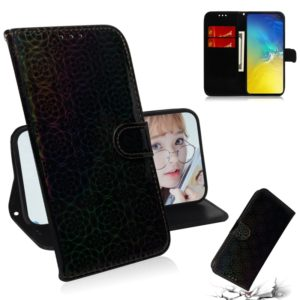 For Galaxy S10e Solid Color Colorful Magnetic Buckle Horizontal Flip PU Leather Case with Holder & Card Slots & Wallet & Lanyard(Black)