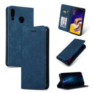 Retro Skin Feel Business Magnetic Horizontal Flip Leather Case for ASUS Zenfone 5 ZE620KL & Zenfone 5Z ZS620KL(Navy Blue)