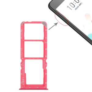 2 x SIM Card Tray + Micro SD Card Tray for OPPO A5 / A3s(Red)